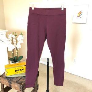 AMERICAN GIANT burgundy ponte legging pant